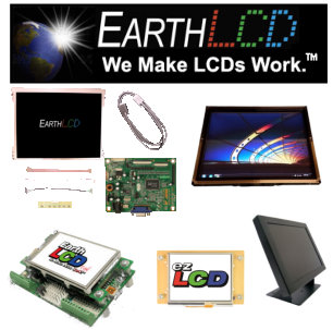 Earth LCD Banner